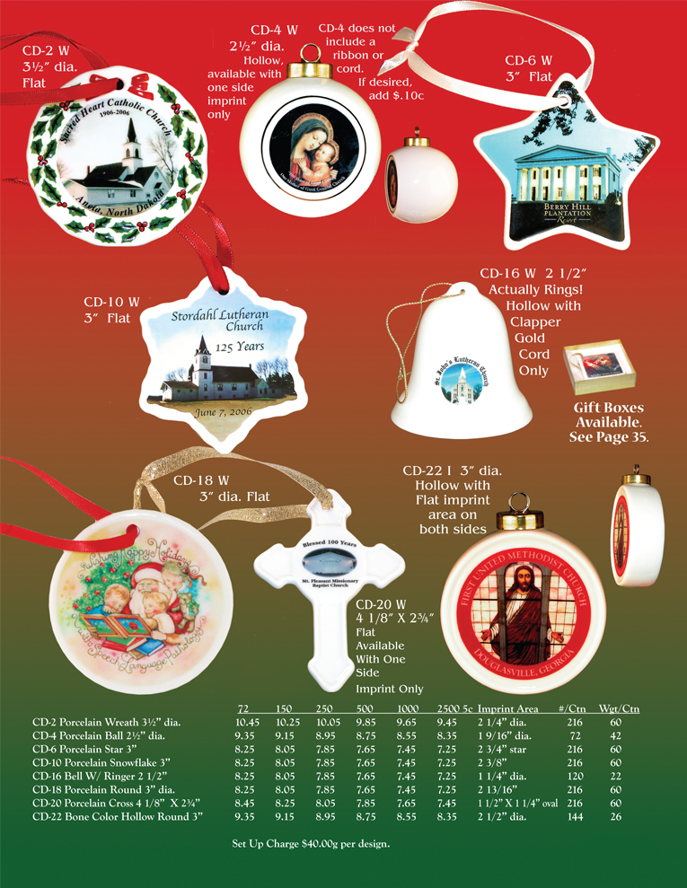 Porcelain Ornament Catalog 1